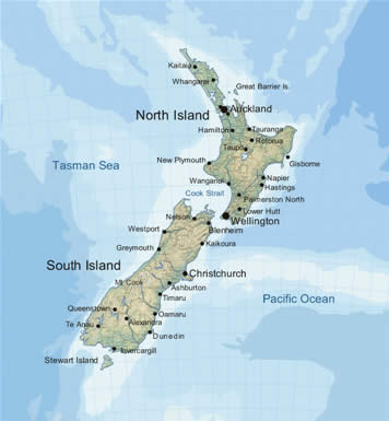 image regarding New Zealand Map Printable identified as Clean Zealand Map Illustrations or photos