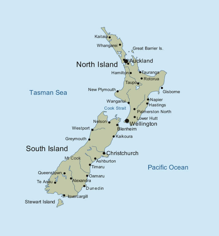 Where Is Wellington New Zealand On The Map.New Zealand Map Images