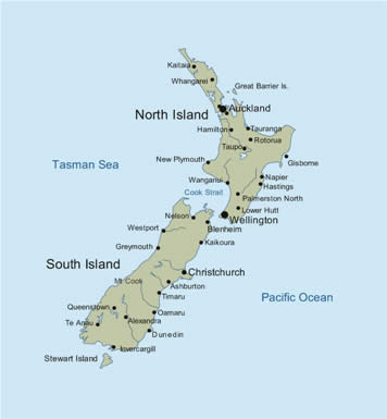 image about Printable Map of New Zealand titled Fresh Zealand Map Visuals