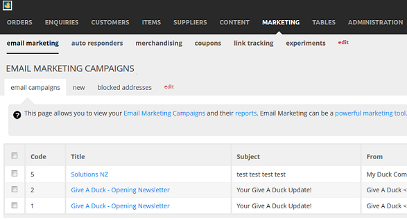 email-marketing campaignlist