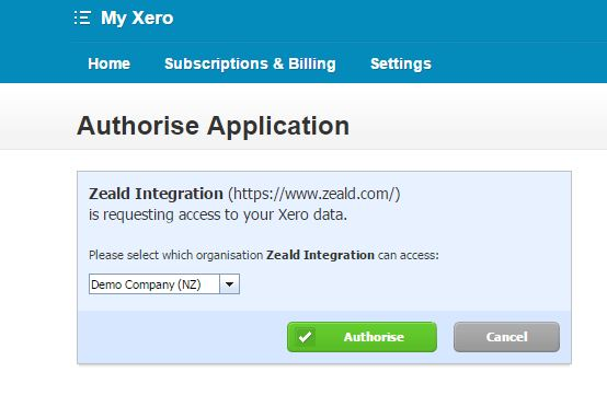 Xero Authorise